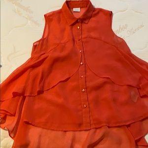 Summer blouse ..coral colour